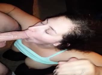 My wife enjoying two cocks