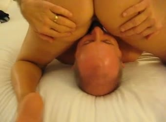 Bisexual cuckold hubby licking bulls balls as he fuck wife