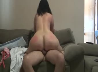 Pawg riding dick and getting booty spanked