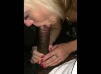 Black guys asks hot blonde to swallow and she does
