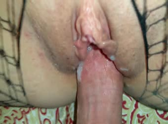 Shared wife getting filled with cum and cock
