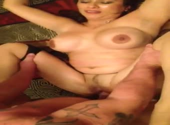 Busty wife gets huge creampie from bull
