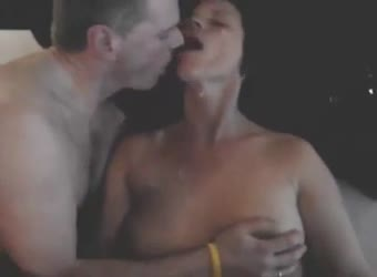 Black bull cums all over hubby and wife's faces