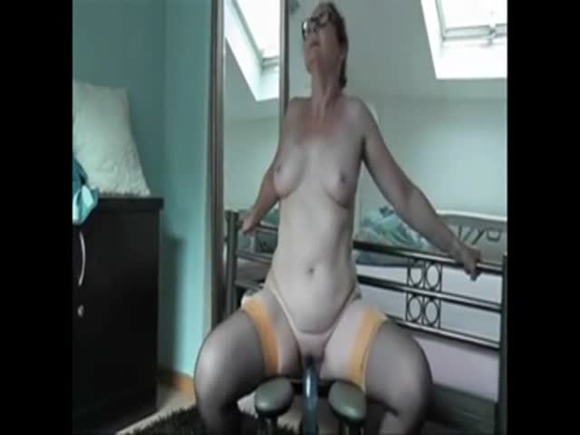 Wife big dildo orgasm