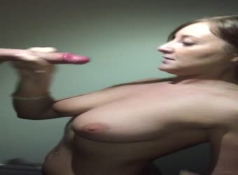 Hotwife cum on tits by her lover