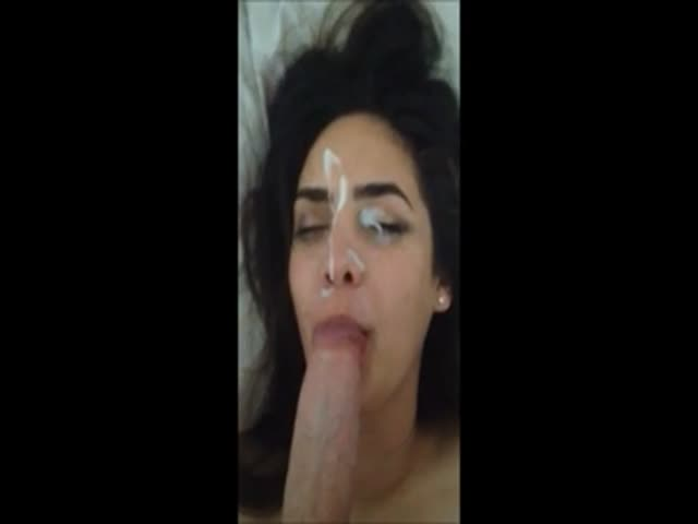 Huge amateur facial video