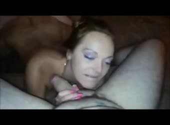 Beautiful lusty girl in threesome