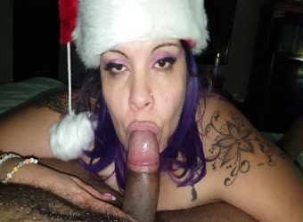 Mrs Claus likes black dick and cum
