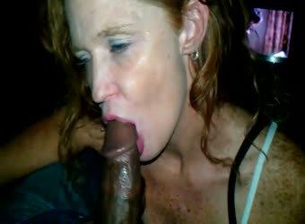 Freckled redhead wants to suck some BBC