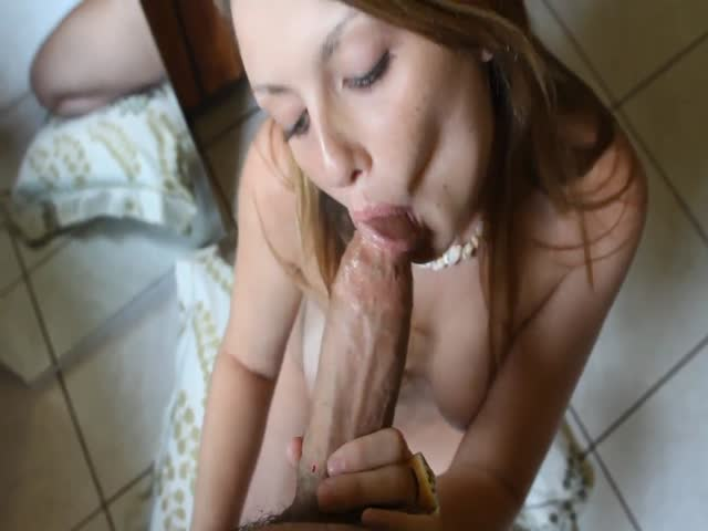 Amateur Wife Sucking Huge Cock