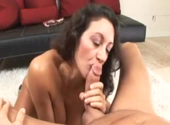 Busty Arab milf blowjob audition