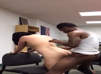 Interracial sex asian and BBC at work