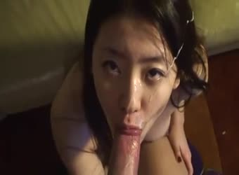 Huge messy asian facial