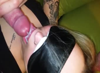 I make my wife swallow his load