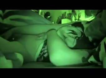 Cumming in night vision