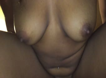Sexy black girl riding white dick