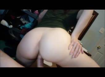 Gorgeous ass girlfriend loves to fuck and make him cum