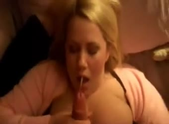 Pretty BBW cum swallow