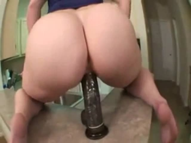 Milf Riding Huge Anal Dildo