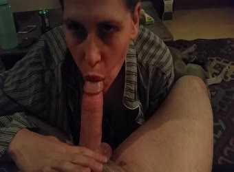 Slow and passionate milf blowjob