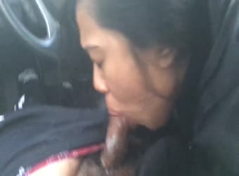 Sloppy Asian car cum swallow