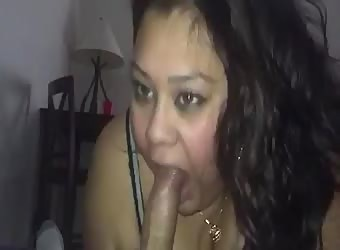 Latina sucking random guy