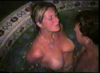 Real wife shared in hot tub