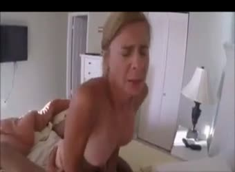 Mature hotwife rides young big cock while hubby records