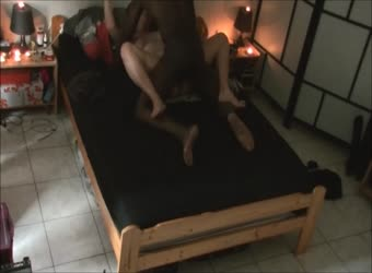 Wife fucks black guy in basement guest room part 2