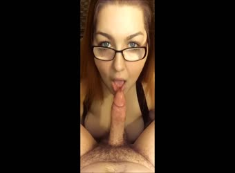 Pretty BBW slut enjoys a cock in her mouth