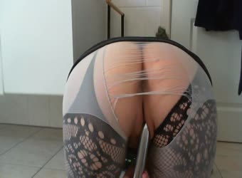 Ripped stockings and my ass view