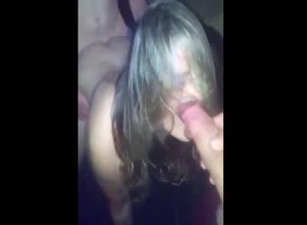 Slut wife threesome spitroast