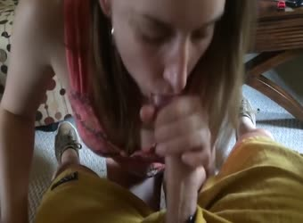 Girl next door loves to swallow cum