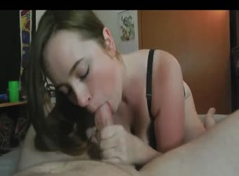 Incredible blowjob and cum swallow