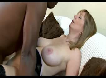 Mature white wife fucks a black bull