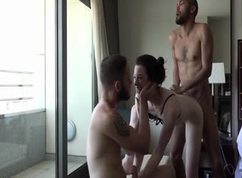 Hot threesome cuckold in Spain
