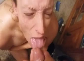 Mature undesired cumshot