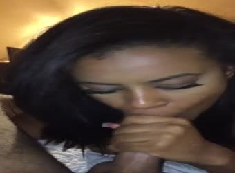 Sexy black girl swallow cum
