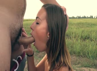 Pulling over in fields to swallow cum