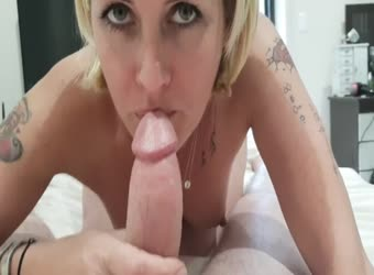 Milf fuck buddy swallows cum after teasing doggy