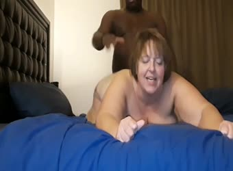BBW mature fucked and eats his black sperm