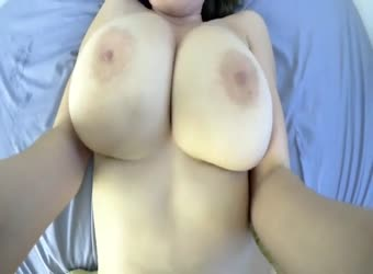 Huge hot tits curvy babe taking stiff cock