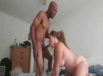 BBW gets dominated by a black stud