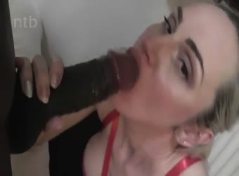 Lonely wife enjoying a black dick and his seed
