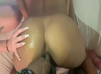 BBC heaven with 2 horny white friends