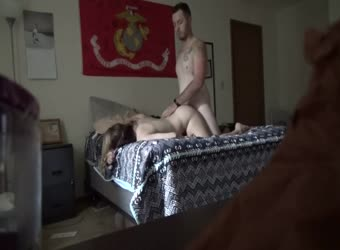Marine fucks friends military cheating wife on hidden cam