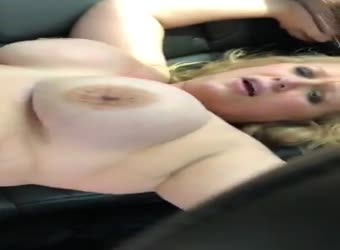 Wife fucks black stranger in the back of the car