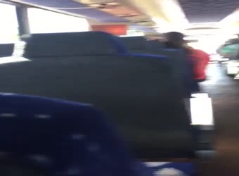 GF sucking dick in crowded bus
