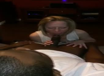 Wife sucking BBC while hubby records