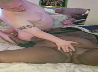 Wife watching her husband face fuck a bbw black girl